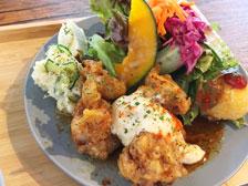 【西大分】お花屋さん併設のカフェ「peace garden」でランチを食べてきた!