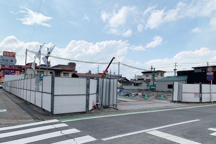 業務スーパー萩原店の建設予定地