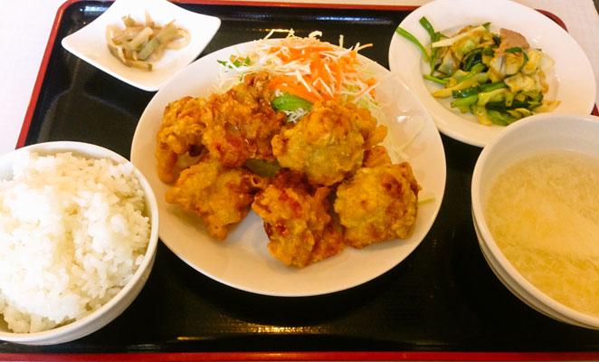 中華料理 虎福のから揚げ定食