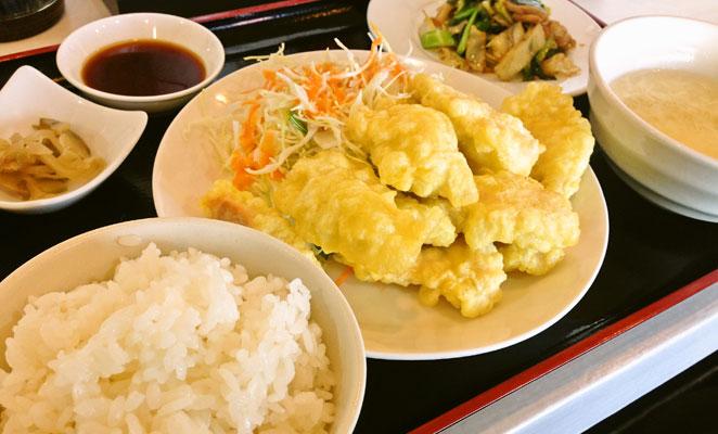 中華料理 虎福のとり天定食
