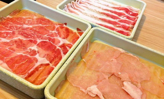 しゃぶしゃぶ温野菜の肉画像