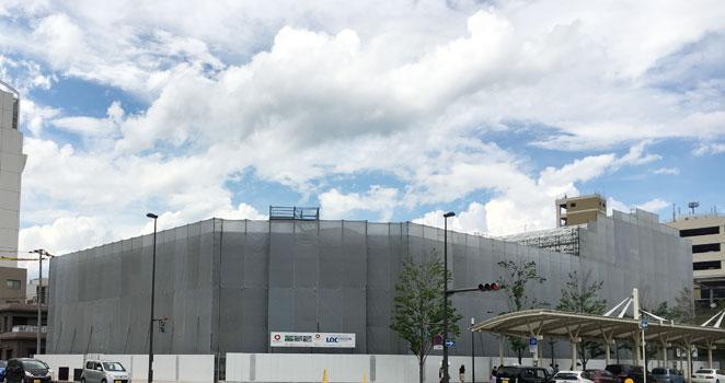 アクロスプラザ大分駅南 建設中 写真