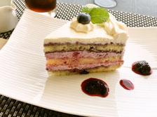 ブルーベリーケーキ 画像 写真