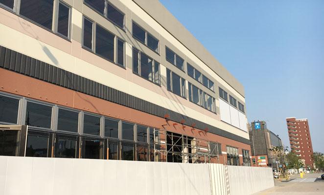 アクロスプラザ大分駅南 建設中 画像