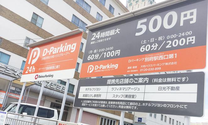 別府駅西口の駐車場画像