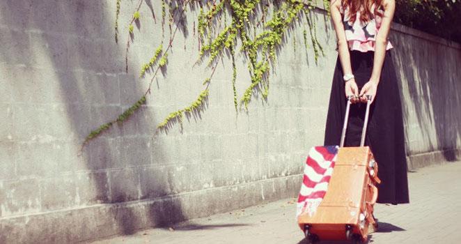 旅する大分の女子大生