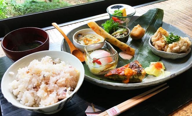 大分県別府市 カフェ和蔵 季節のおそうざいランチ画像