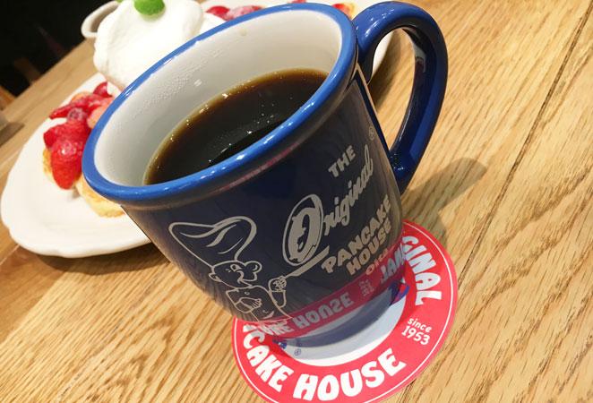 オリジナルパンケーキハウスのコーヒー