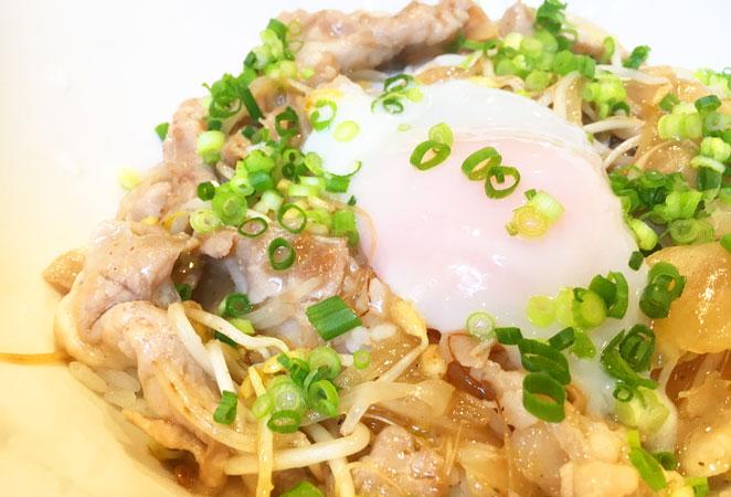 塩タレ豚丼の画像