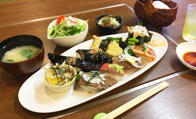 和風焼肉ダイニング洒落柿の肉寿司ランチ画像