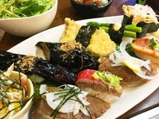 大分の肉寿司写真