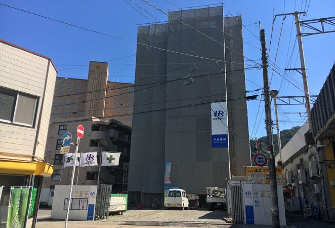 ホテルAZ別府駅前店の建設現場