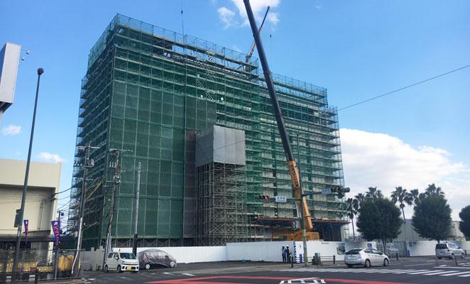建設中のレックスホテル別府