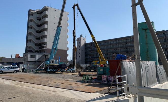 グリーンヒル古国府駅前の建設予定地