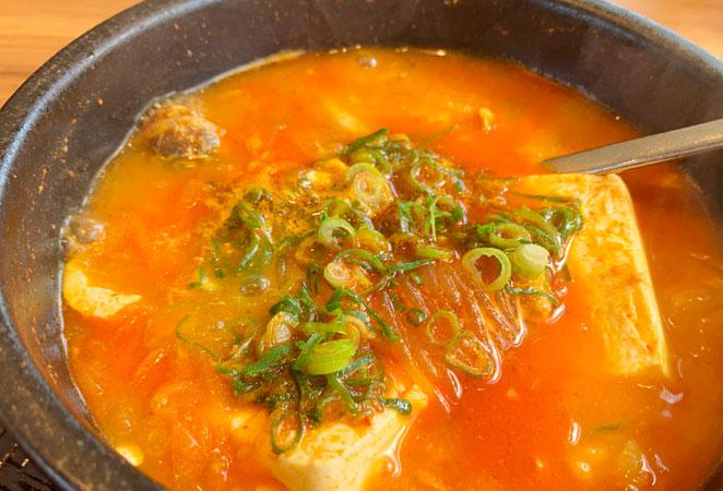韓丼のホルモンスンドゥブ