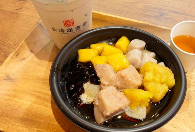 台湾甜商店大分オーパ店の芋圓芋満足
